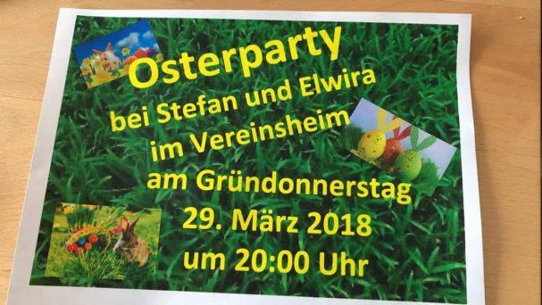 Osterparty im Vereinsheim